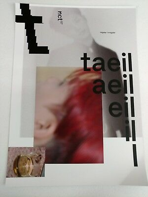 NCT127- Regular-Irregular (Taeil Ver.) 2-Sided Official Unfolded Poster New