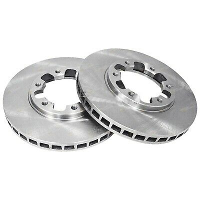 2 Front Disc Brake Rotors for Nissan Patrol GU Y61 4x4 1997 to 2016 incl Safari