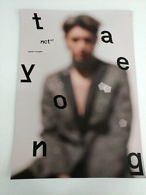 NCT127- Regular-Irregular (Taeyong Ver.) 2-Sided Official Unfolded Poster New