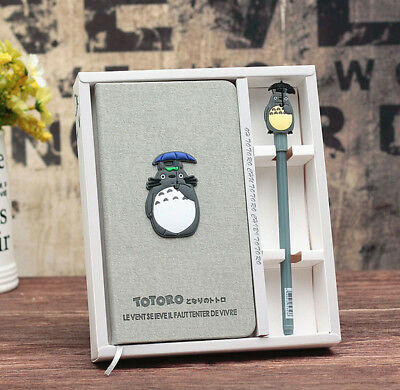1X Totoro Cute Notebook Beautiful Gift Box Set Planner Memo Desk Accessories