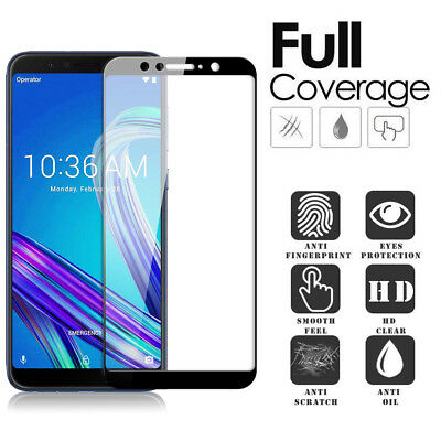 9H Tempered Glass Full Cover Screen Protector Film For ASUS Zenfone MAX PRO (M1)