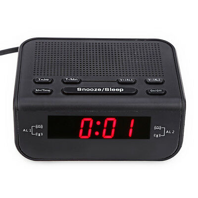 Cr - 246 Fm Digitale Time Display 0.4cm Led Radio Sveglia Doppio Modalità Nera