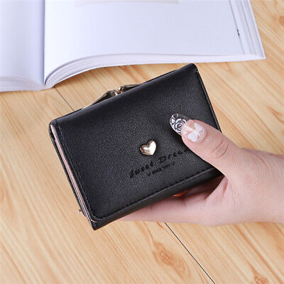 Womens Metal Frame Kiss-lock Small Clutch Cards Coin Purse Holder Wallet LH