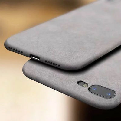 For iPhone 6S 7 8 Plus, Shockproof Sandstone Matte Back Thin Soft TPU Case Cover