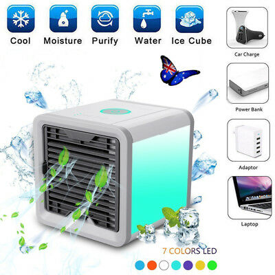 AU NEW Portable Air Cooler Conditioner Cool Cooling Fan For Bedroom Mini Fan