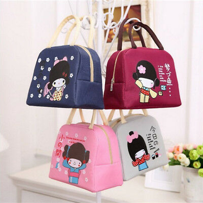 Insulated Lunch Bag Cooler Picnic Travel Food Box Women Tote Carry Bags LH