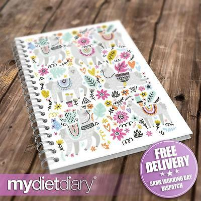 SLIMMING WORLD COMPATIBLE DIET DIARY - Fancy Llamas (S042W) 12wk diet food diary