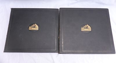 2 X Antique HMV 78 rpm Record Albums - Lauder Dawson Birth Radio Marconiphone