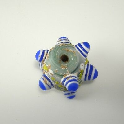 Ancient Horned Dragonfly Eye Bead Warring States Glass 475BC Chinese Pendant