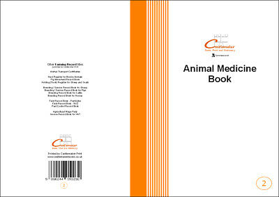 Castlemaker: Animal Medicine Combined Record Book (M002), A5, 32 Pages