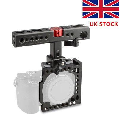UK CAMVATE Sony A6500 A6000 A6300 Camera Cage Kit Stabilizer Top Cheese Handle