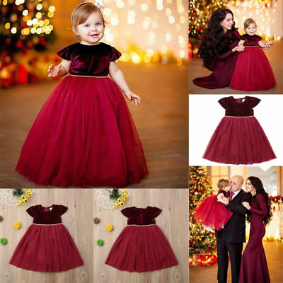 US Flower Girl Toddler Kid Baby Princess Pageant Wedding Party Tulle Tutu Dress