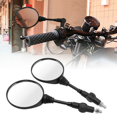 Universal Motorcycle Thread Folding Rearview Side Mirror For Honda Suzuki KTMATV