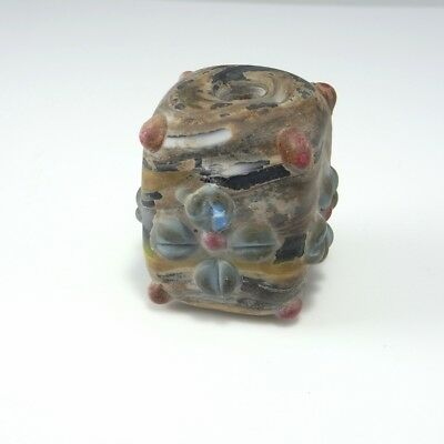 Ancient Phoenician Glass Bead Amulet Jewelry Rare Artifact Amulet Core Formed