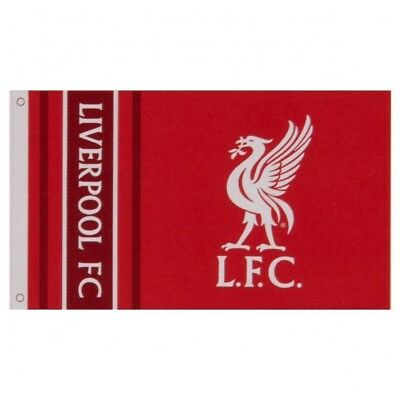 Liverpool Football Club Official Striped Large Flag Big Crest Game Fan Banner