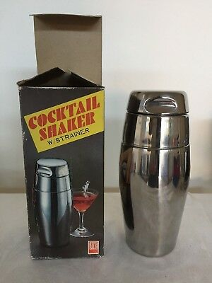 1960's RETRO Boxed Cocktail Shaker with Strainer
