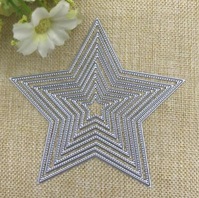 8 Pcs Metal Cutting Dies Stencil Embossing Die Card Crafts Making Pentagram Star