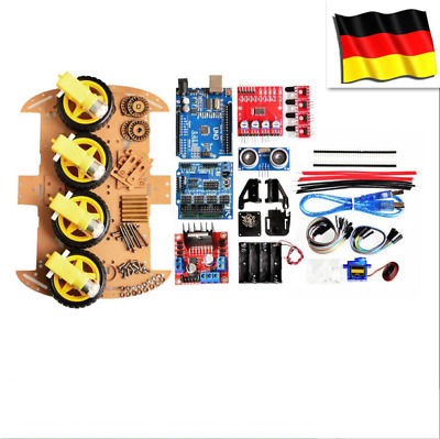 HOT 4WD Smart Roboter Auto Chassis Kits für Arduino Ultraschall Tracking Modul