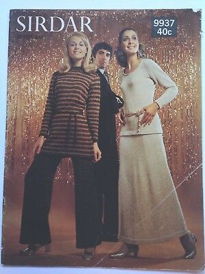 Vintage 60's 70's Sirdar 9937 womens after 6 - Hand or Machine knitting-  suits