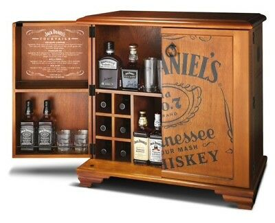 Unique Handcrafted Jack Daniels Collectible Whiskey Cabinet