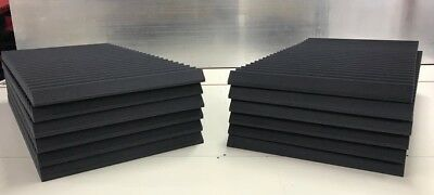 "Acoustic Studio Soundproofing Foam Panels Wedge/Pyramid 12 pcs 24""x48""x2"" thick"