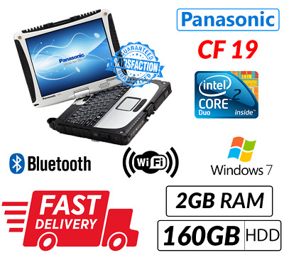 Panasonic Toughbook Cf19 Mk3@ 1.20Ghz 160Gb Touchscren Laptop- With Free Charger