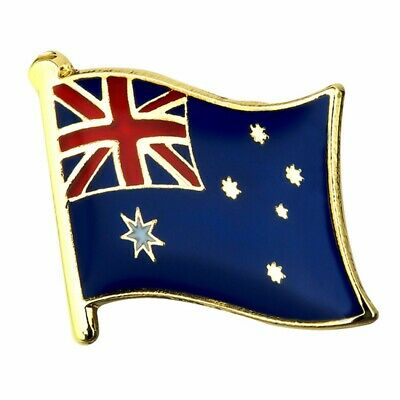 "AUSTRALIAN FLAG LAPEL PIN 0.5"" AU Australia Hat Tie Tack NEW Metal Badge Pinback"