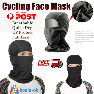 Breathable Face Mask Quick Dry Outdoor Tactical Motorcycle Cycling UV Protect qf
