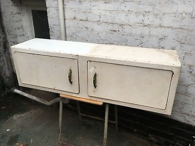 Vintage English Rose Kitchen Metal Wall Mounted Cabinets Cupboards 1950s Retro