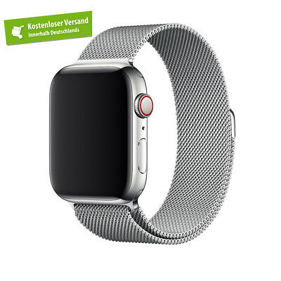 Apple Watch SERIES 4 (44mm) MILANAISE Armband SILBER  | Nur Band
