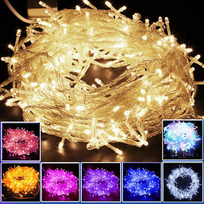 2-100M String Christmas Mains Battery LED Fairy Lights Xmas Party Outdoor Decor