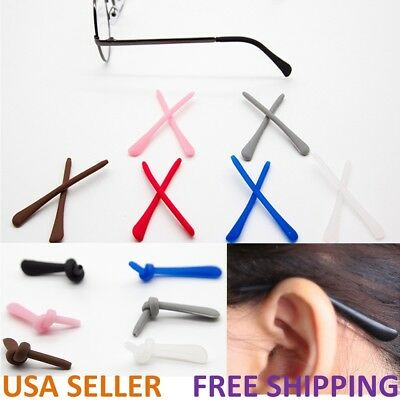 Silicone Temple End Tip Repairs for Eyeglasses Sunglasses Spectacles Glasses