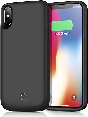 iPhone X Charger Case 6000mAh Slim Extended Battery Rechargeable Charging Cover
