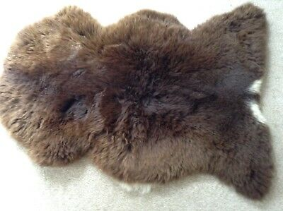 Genuine Sheepskin Rug - (Mix Of Browns With White Markings) - Xl
