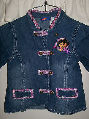 NICK JR Dora The Explorer Denim Jacket Girls Sz 4T