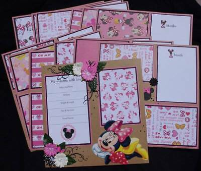 Minnie Mouse Disney 12 X 12 Premade Scrapbook Layout 2 Pg 3d