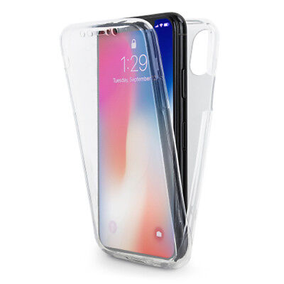 For iPhone XS Max Case Cover 360 Shockproof Thin Gel Clear Silicone Front & Back