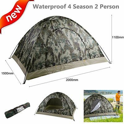 2-3 Person Outdoor Camping Waterproof Automatic Instant Pop Up Tent Camouflage Y