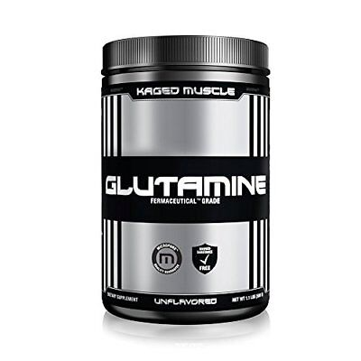 KAGED MUSCLE, L-Glutamine Powder 500 Gram, Vegan, Support Muscle Recovery, Post
