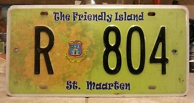St. Maarten Island license plate tag NO RESERVE!!!! $2.99