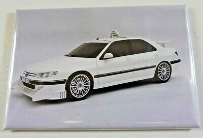 "SUPERBE Magnet Aimant Peugeot 406 ""TAXI"" Long 78 mm Haut 54 mm Neuf"