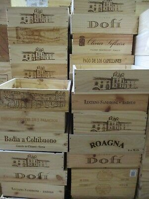 Wooden wine box  original wine crate box Christmas hamper storage planter shelve