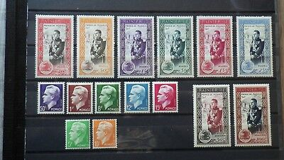 TIMBRES STAMPS MONACO 1950 COMPLETE Neufs * Yt 338 à 350 + PA 49 50 ** airmail