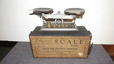 Vintage Pelouze Manufacturing Co. Laboratory Scale Metric Pre-owned