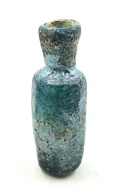 Authentic Ancient Roman Glass Perfume Flask - L503
