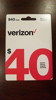 $40 Verizon Wireless Prepaid Refill Card NEW (Fast Email Delivery )Guarantee