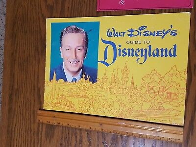 Vintage Walt Disney Guide to Disneyland and pictorial souvenir book