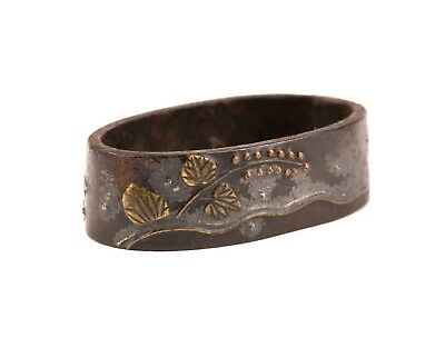 Antique Japanese Fuchi - Copper and Brass Inlay