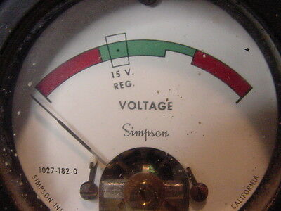NOS Simpson Sealed Expanded Scale Odd Panel Volt Reg Meter 1027-182-0