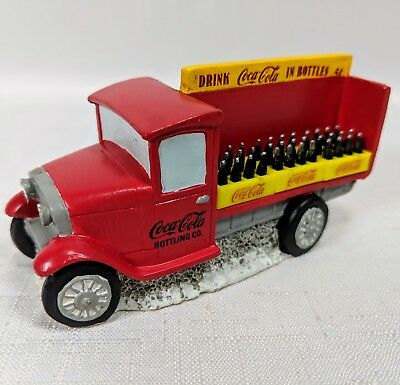 Christmas Coca Cola Town Square Collection Delivery Truck 1992 Communicorp